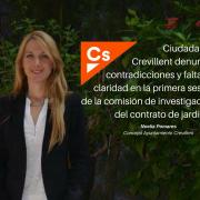 Ciudadanos Crevillent denuncia contradicciones y falta de claridad en la primera sesión de la comisión de investigación del contrato de jardines