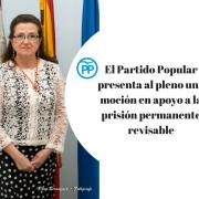 El Partido Popular presenta al pleno una moción en apoyo a la prisión permanente revisable