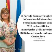 El Partido Popular ya solicitó a la Comisión del Mercado de Telecomunicaciones poner Wifi en los edificios municipales y sólo autorizó la Biblioteca, Casa de Cultura y el Centre Jove